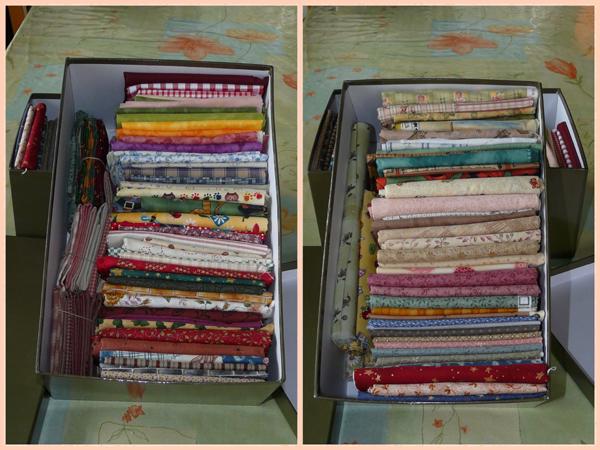 Tissus bien rang s blog du site les croix de violette for Rangement tissu couture